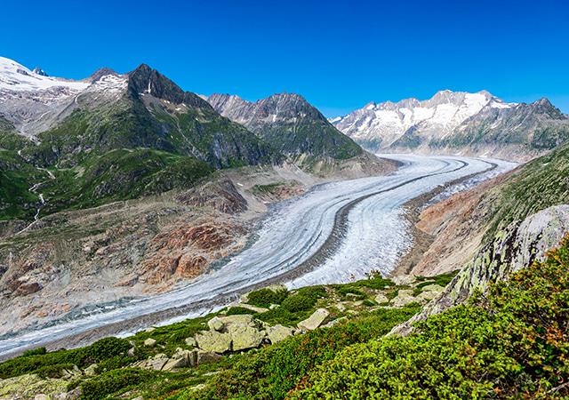 阿雷奇冰河Aletsch gletscher